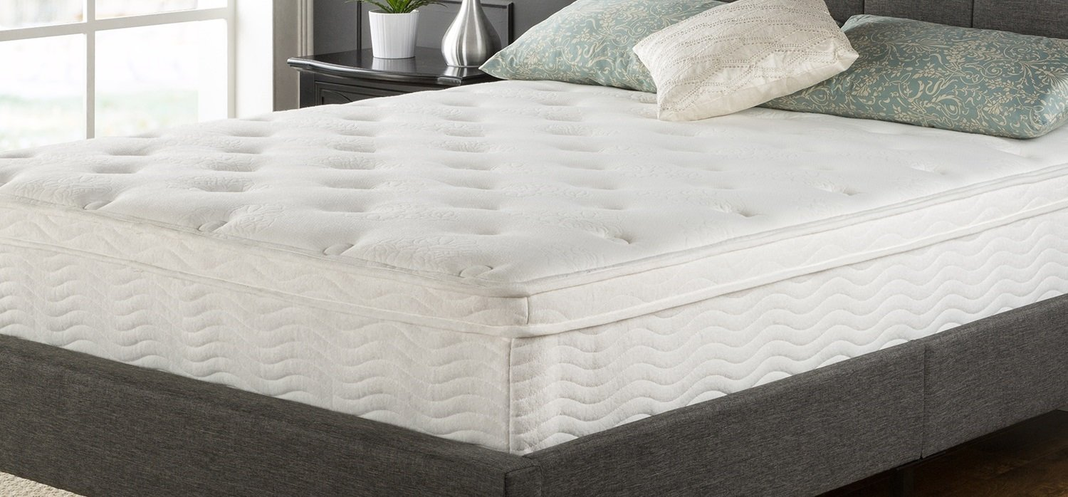 Zinus Night Therapy Spring 10 Inch Pillow Top Mattress